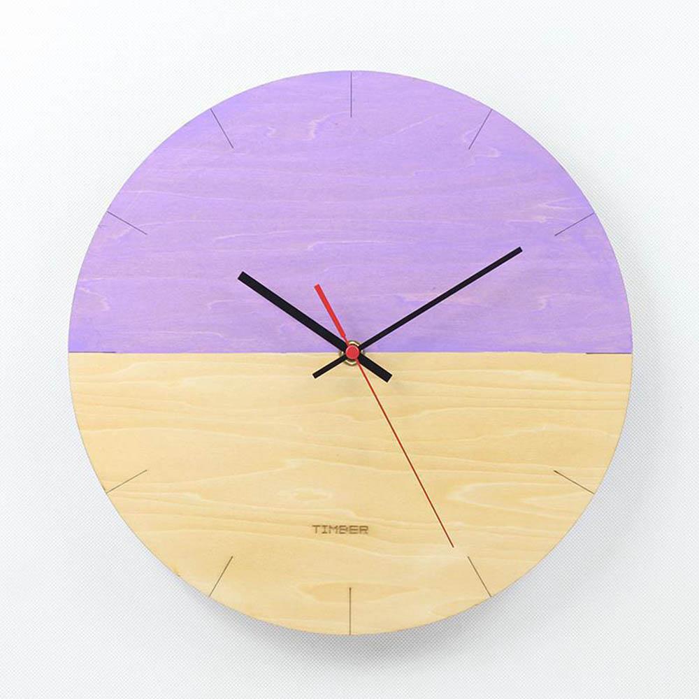 Horloge à Quartz silencieuse accessoires de décoration murale horloge murale moderne de 12 pouces horloge murale Simple salon chambre horloges murales