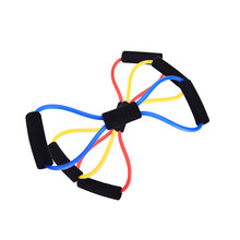8 Word Chest Developer Expander Rubber Resistance Bands Workout Elastic Bands For Fitness Band Yoga Sport Gym Exercise Equipment(China)