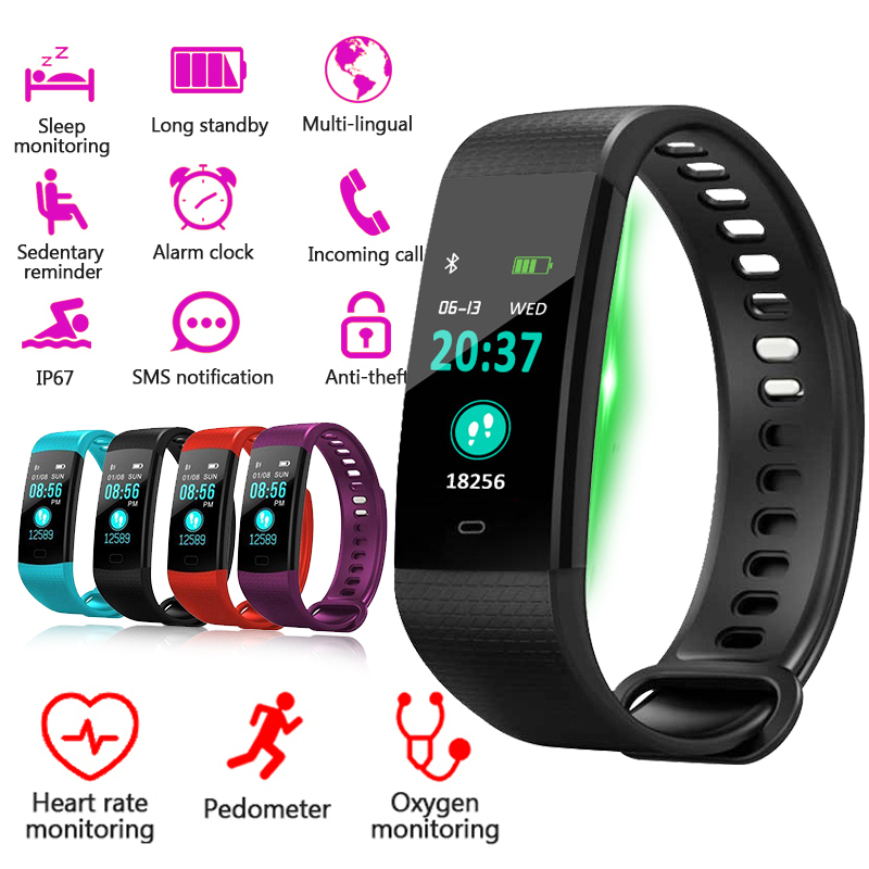 MNWT Sport Bracelet Smart Watch Women Men Fitness Activity Heart Rate Tracker Blood Pressure Wristband For Android IOS