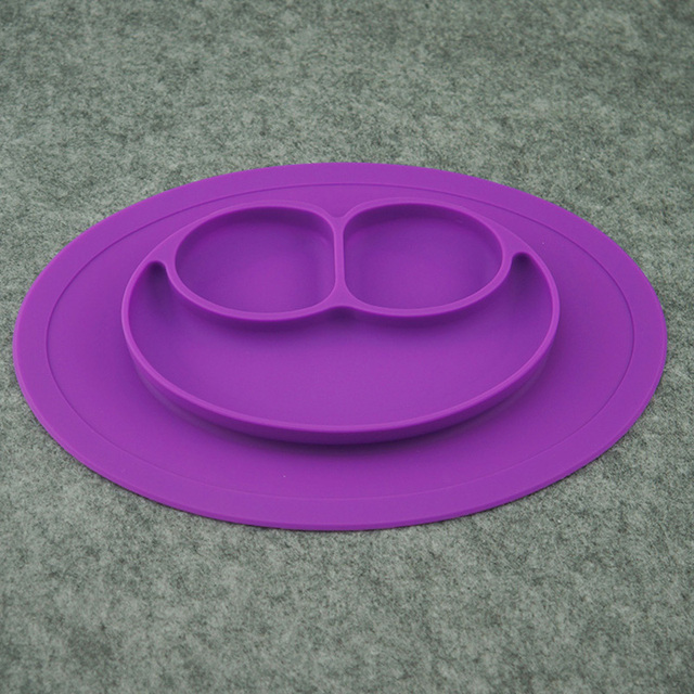 8 cores de Silicone Crianças Colocação Placa Baby One-piece Silicone Titular Bandeja Prato Pratos de Comida para Bebê Criança Crianças crianças
