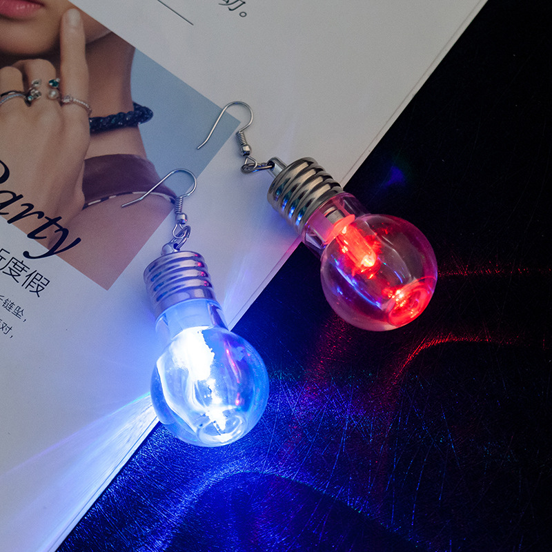 2020 Unique New Design Funny Light Bulbs Drop Earrings Women Fashion Luminous Dangle Brincos Friends Gifts Party Jewelry