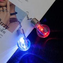 Boucles d'oreilles pendantes pour femmes, nouveau Design Unique, ampoules lumineuses amusantes, mode Dangle lumineux Brincos, cadeaux pour amis, bijoux de fête, 2020