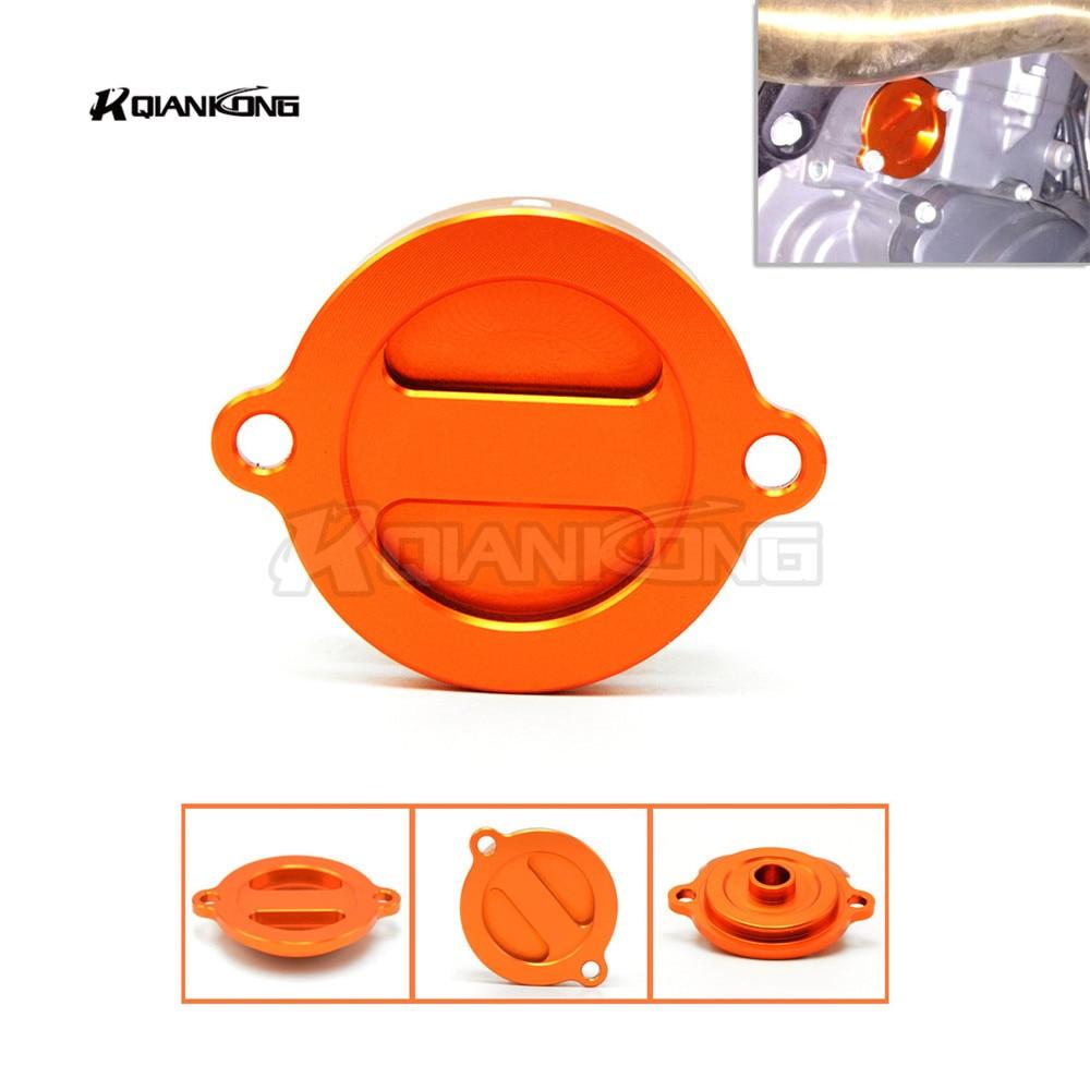 R QIANKONG Orange CNC Aluminum Refit Engine Oil Filter Cover Cap for KTM Duke 125 Duke 200 Duke 390 Duke 690 RC 125 200 390 PCX for ktm 390 duke motorcycle leather pillon passenger rear seat black color