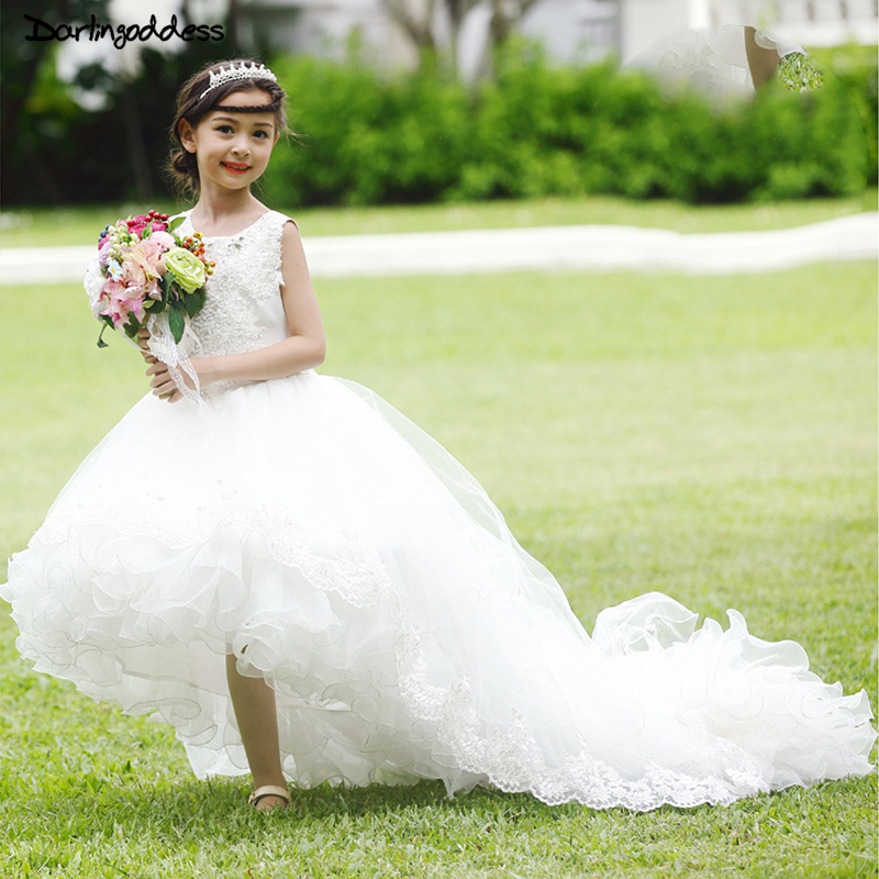 Darlingoddess 2017 Ball Gown Lace First Holy Communion