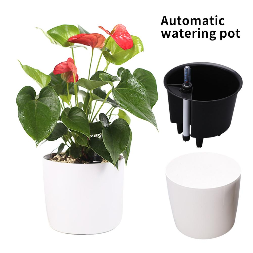 Automatic Watering Flower Pot Lazy Automatic Water Absorption Flower Pot Resin Environmental Protection Planting Pot Green Plant