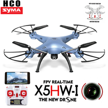 SYMA X5HW FPV RC Quadcopter Drone with WIFI Camera 2.4G 6-Axis RC Helicopter HD Camera Syma X5SW Upgrade with Hover Function