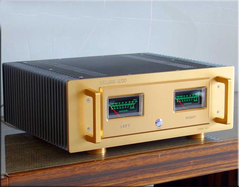 Nouveau A60 aluminium amplificateur de puissance châssis bricolage HiFi Audio Amp Case avec VU mètre 330mm x 348mm x 142mm