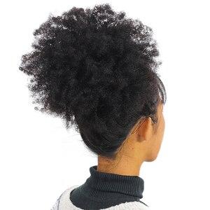Image 5 - ガブリエルモンゴルアフロキンキーカーリーヘアバンドル 8 20 インチ 100% 人毛バンドル 3/4 個のremy毛は織物ショートカーリーヘア