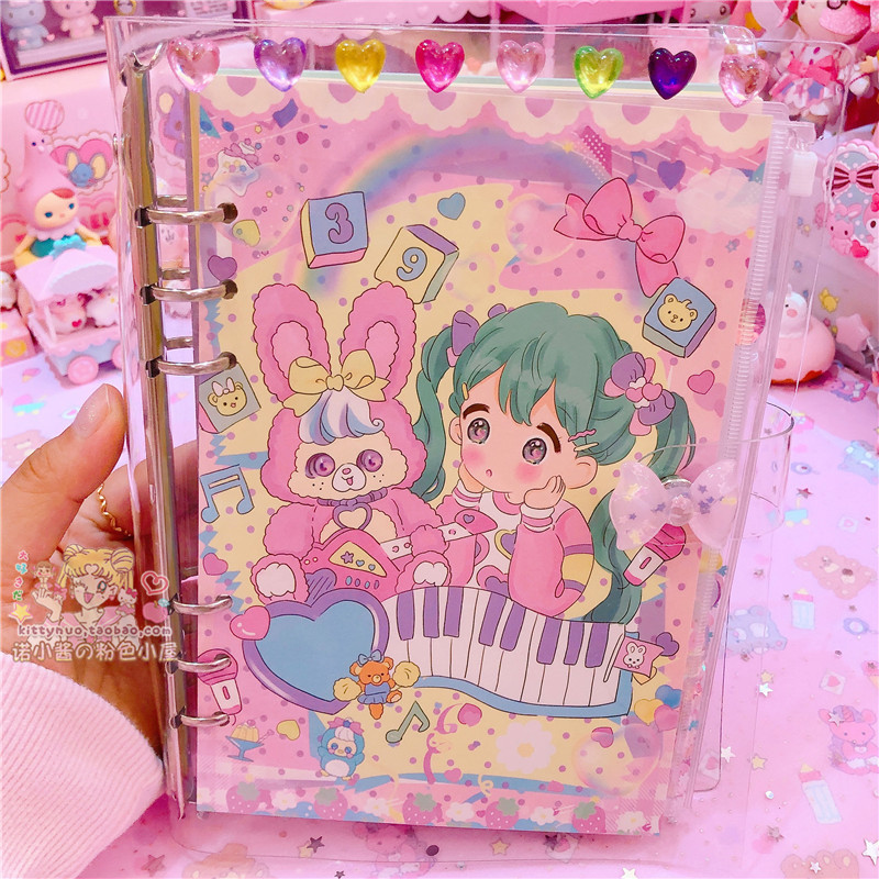 Lovely Cartoon A5 Notebook Diary Schedule Book Planner Diary DIY School Supplies Pvc Cover Girls Gifts