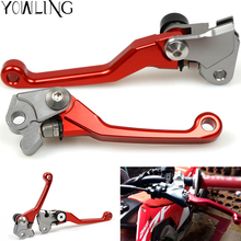 Red CNC Pivot Brake Clutch Levers for Honda CRF 250R 450R CRF250R CRF450R 2004-2006 CRF 250X 450X CRF250X CRF450X 2005-2016 недорого