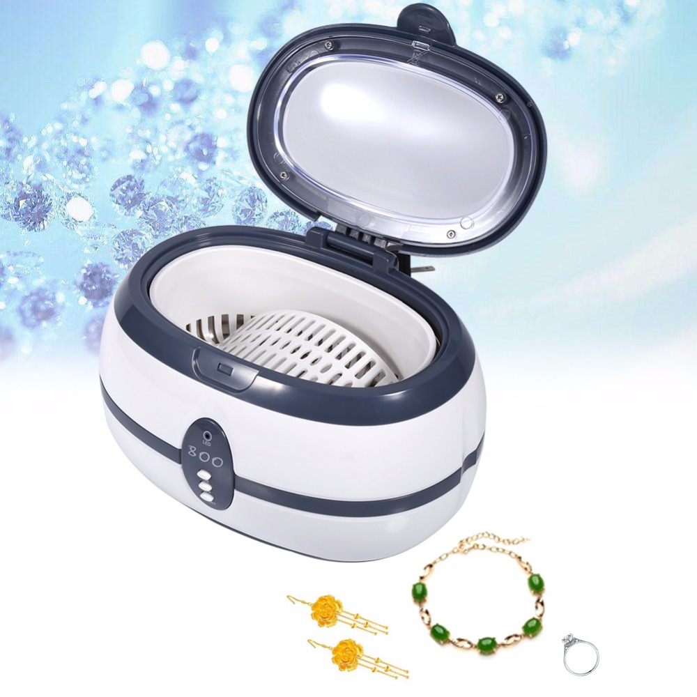 600ml 35W household ultrasonic cleaner 110/220v for Jewelry Watches Dental VGT-800 GT SONIC grey multi function 35w ultrasonic cleaner grey 600ml