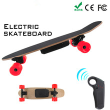 Electric 70mm Hub Motor 7 Layers Maple Skateboard Longboard Skate Board Mini Cruiser Long board Skatecycle For Child Walk Tool