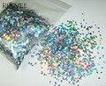 """50gram-1/12 """"(2mm) Plata Holográfica Láser Deslumbrante Diamante (rombo) Del Brillo Del Paillette Lentejuelas Forma para Clavo de DIY Decoración Arte"""