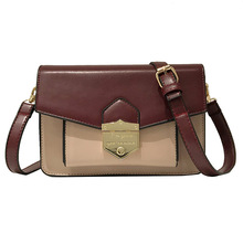 2019 Womens Bags Fashion Spelling Locking Small Square Flap Women Shoulder Panelled Classic Cross Body Clutch Purse