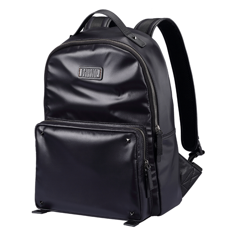 Pabojoe Men Black Backpack Men  Canvas Backpack  Solid  Men Bags Mochila Men Rucksack Shoulder Bag men