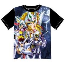 Envío Gratis Saint Seiya Anime manga T-shirt Las Mujeres de Los Hombres Cosplay Camiseta de Malla Negro Tee 008
