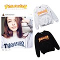 Thrasher Magazine Sweatshirt Men Hoodies High Quality Cotton Flame Thrasher Pullover Hoodies Men Thrasher Sweatshirt 3 colors