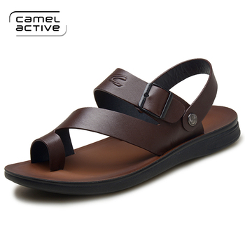 Camel Active New Mens Sandals Genuine Leather Summer Shoes New Beach Men Casual Shoes Outdoor Sandals for man Plus Size 38-44