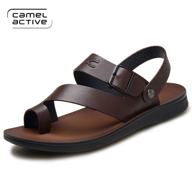 1e0005d50c822 US $39.0 35% OFF|Camel Active 2018 Herren Sandalen Aus Echtem Leder Sommer  Schuhe Neue Strand Männer Casual Schuhe Outdoor Sandalen für mann Plus ...