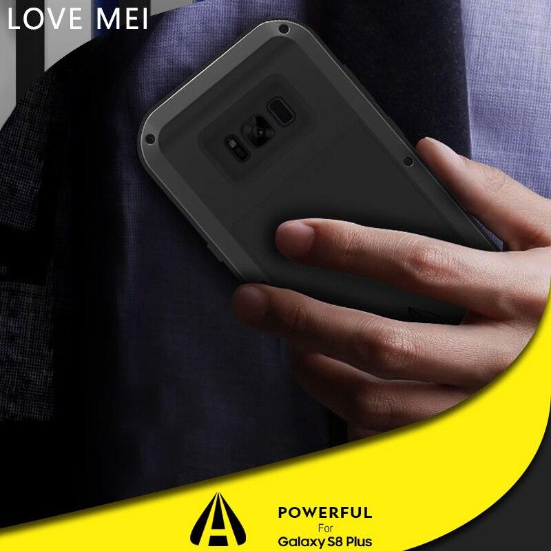 LOVE MEI Pour Samsung Galaxy S8 Cas Original De Luxe TPU Silicone Hybride En Aluminium Dur Téléphone étui pour Samsung S8 Plus Housse