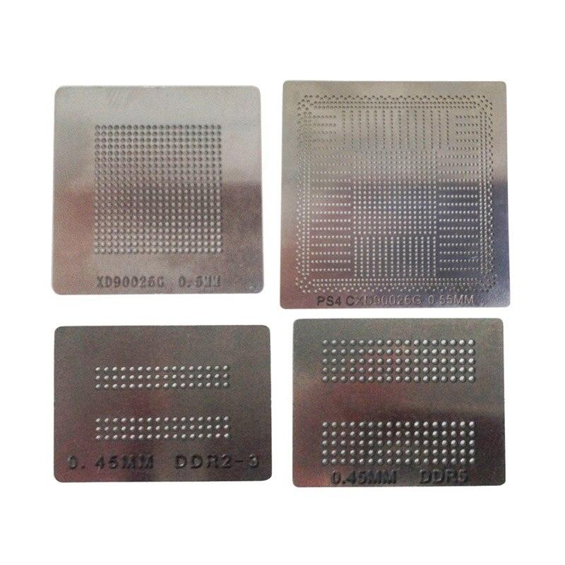 4pcs/lot BGA reballing stencils direct heating solder ball steel template suitable PS4 bga solder station