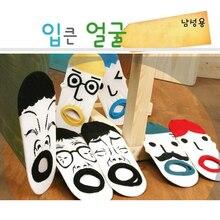Korea Style Unisex Couple Socks Cartoon Face Originality Sock Funny Short Ankle Socks Cotton New Women Clothing Free Shipping