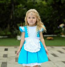 Halloween Toddler Baby Girls Anime Alice In Wonderland Blue Party Dress Dream Child Sissy Maid Lolita Cosplay Costume