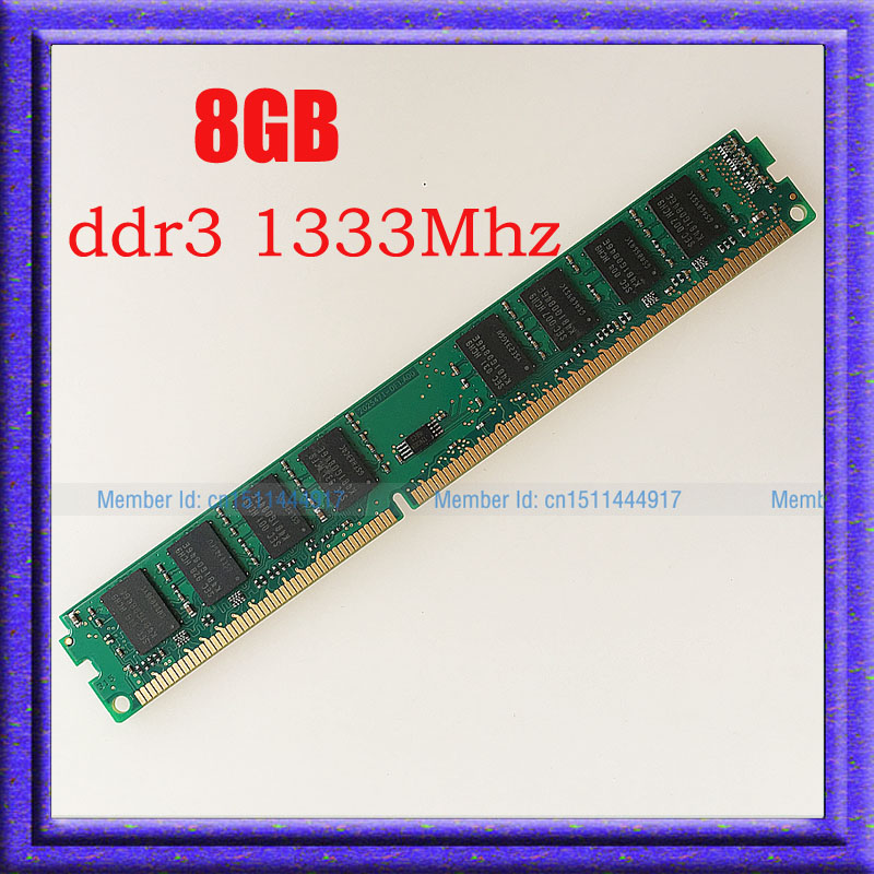 ФОТО Fully Test 8GB PC3-10600 DDR3-1333 DDR3 1333MHZ 240PIN Desktop Memory 8g ddr3 1333 RAM desktop 240-pin DIMM memory Free shipping