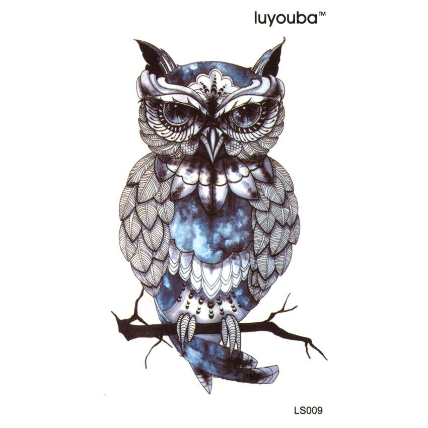 Owl a fán Vízálló ideiglenes tetoválás Men Beauty Állat - Tetoválás és testmûvészet