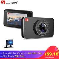 Junsun H9 Super Night Vision Car DVR Camera ADAS LDWS FHD 1296P 1080P 3 IPS Dash