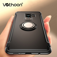 Vothoon Soft Shockproof Case For Samsung Galaxy S8 S9 S10 Plus S10e Note 8 9 S7 edge Anti Knock Silicone Car Holder Ring Case