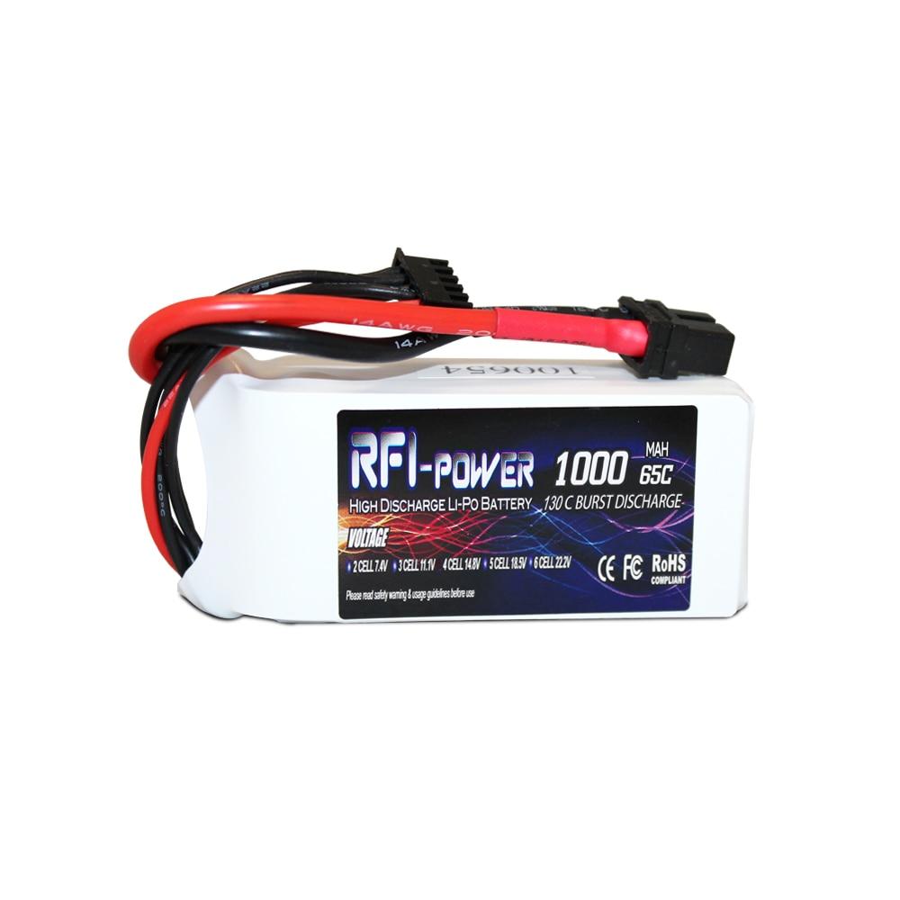 RFI-power 1000mAh 14.8V 65C(Max 130C) 4S Lipo Battery Pack for FPV Racer lc l c power filter 2a 2 4s 25v lipo for fpv fpv video