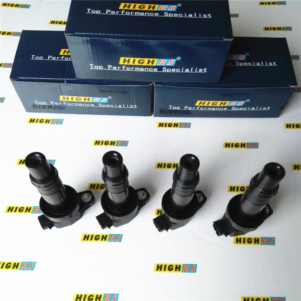 4x Ignition Coils for Hyundai Accent i20 i30 Kia Cerato Rio Soul Cee/'d G4FA G4FC