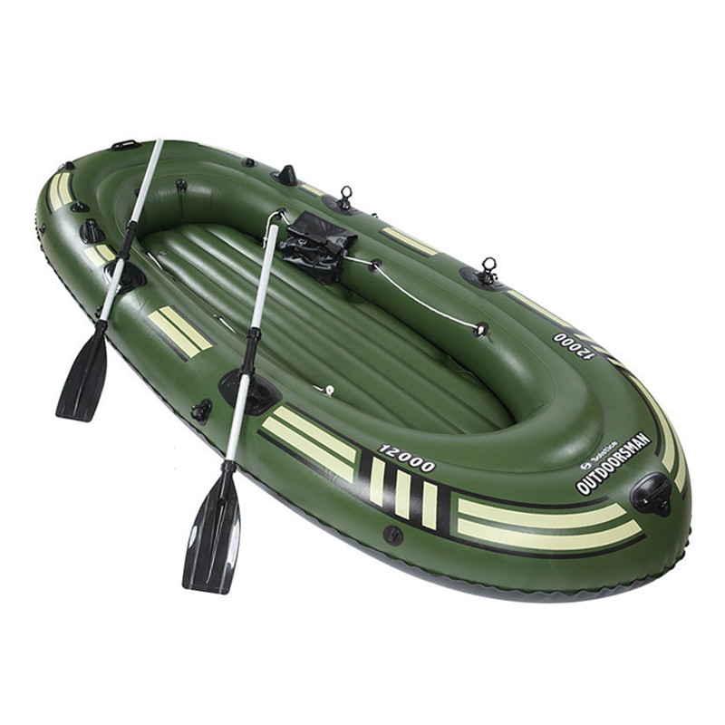 Rubber boat thick wear resistant inflatable boat 2 3 4 person kayak double fishing boat extra