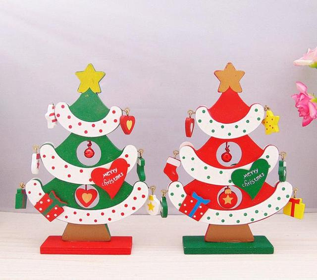 wooden christmas tree decorations accessories diy handcrafted ornament decor christmas party supplies lovely decorations