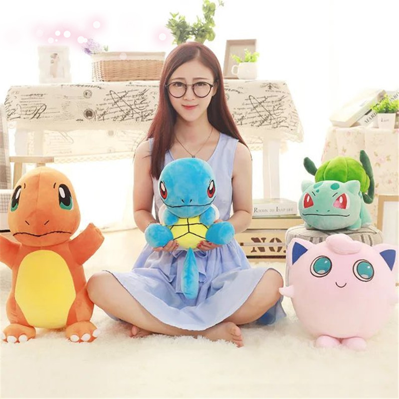 4 styles charmander plush toy Bulbasaur Jigglypuff squirtle doll Anime Soft Stuffed Animal Doll Anime Baby bithday gift kid
