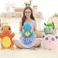 4 styles charmander  plush toy Bulbasaur Jigglypuff squirtle  doll Anime Soft Stuffed Animal Doll Anime Baby bithday gift kid
