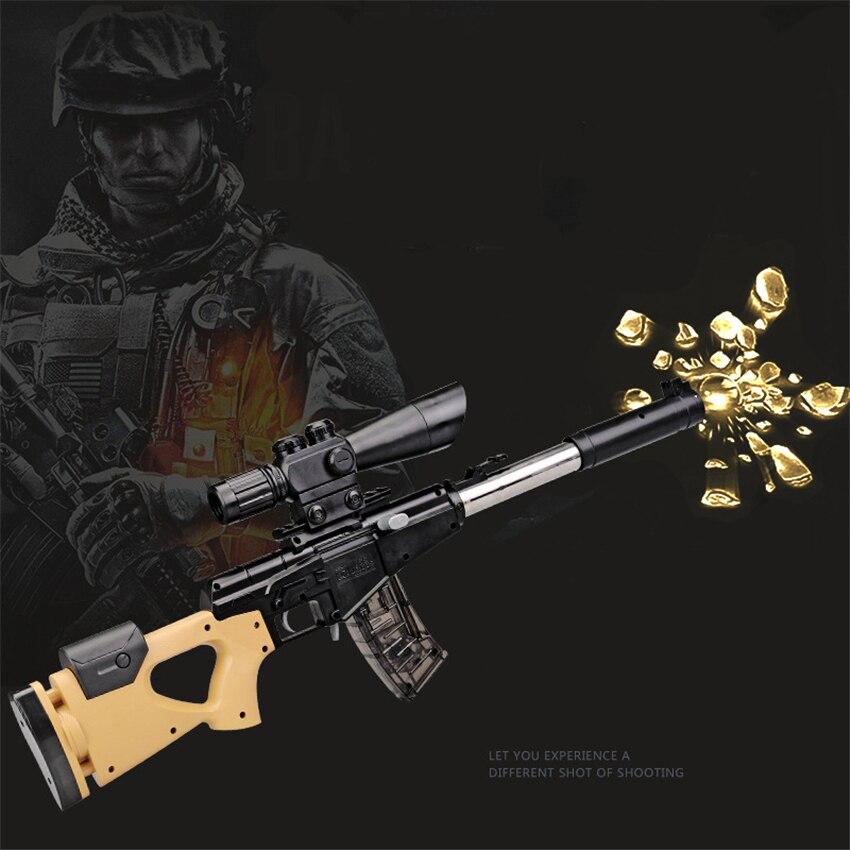 Hot Eva2king jouet fusil de Sniper pistolets jouets Silah pistolet manuel avec des balles en cristal doux Orbeezs jouets pour enfants cadeaux d'anniversaire