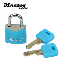 Master Lock Mini Padlock Small Locker Lock Drawer Student Concentric Luggage case box Lovers Lock 4 Colors 2 Keys Wholesale small mini lock solid plastic case copper padlock travel tiny suitcase and lock with 2 keys have 8 colors home accessories