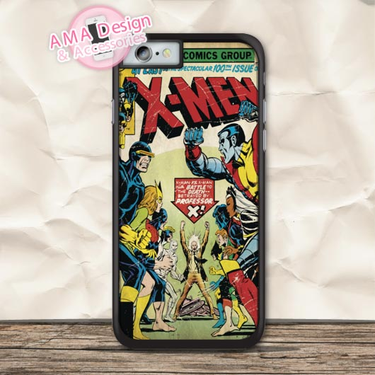 Retro Heroes X Men Cover Protective Case For iPhone X 8 7 6 6s Plus 5 5s SE 5c 4 4s For iPod Touch