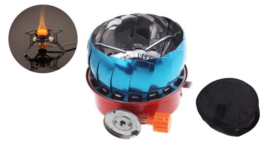 New Sale Windproof Stove Cooker Cookware Gas Burner for Camping Picnic Cookout BBQ