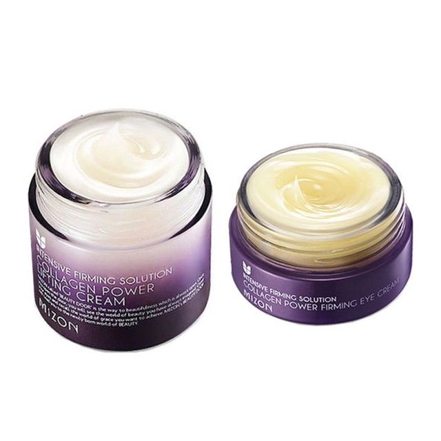 MIZON 1+1 Collagen Power Lifting Cream 75ml + Collagen Power Eye Cream 25ml Korean Cosmetics