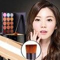 15 Colors Maquiagem Professional Salon Concealer Palette Makeup Party Contour Palette Face Cream Liquid Foundation Make up Brush