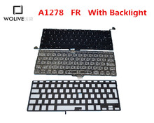 Genuine New A1278 FR Keyboard For Macbook Pro 13″ 2009-2012 Year With Backlight language version FR Replacement