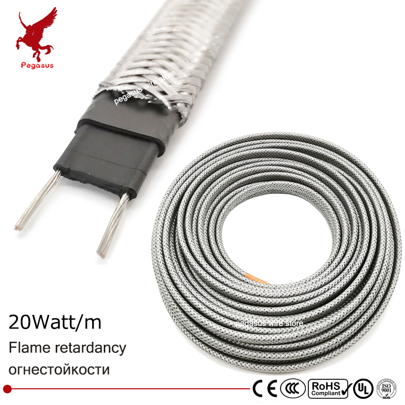 1m-100m 220V 8mm Shield Flame retardant heating cable Self-limiting temperature Water pipe protection Roof deicing Heating belt1m-100m 220V 8mm Shield Flame retardant heating cable Self-limiting temperature Water pipe protection Roof deicing Heating belt