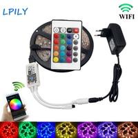 IPILY RGB LED Strip Lighting 5m 10m 15m 20m 2835 Non Waterproof With IR Music Remote