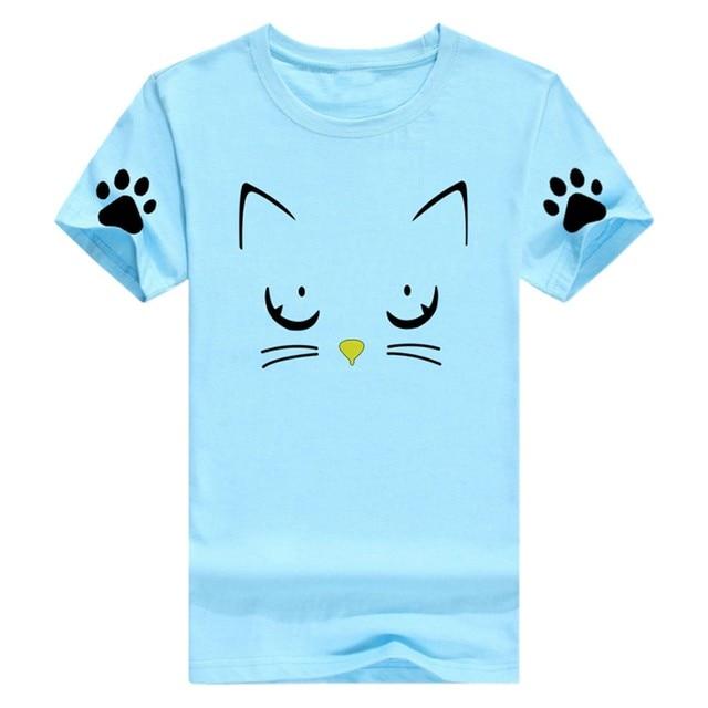 Cat Print Women TShirt...
