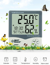 цена на Smart Sensor AR807 Digital Hygrometer Thermometer Humidity Temperature Meter Tester Weather Station with Calendar & Clock Alarm