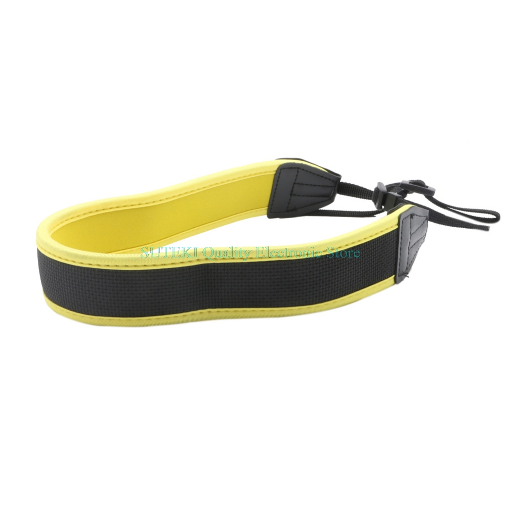High Elastic Belt Neoprene Shoulder Neck Strap for Nikon Camera Yellow