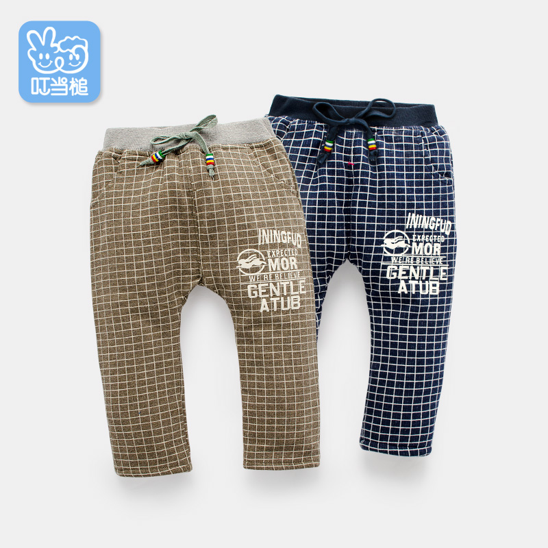 Dinstry Boys Girls Pants spring autumn children's warm Trousers babys' Casual Pants
